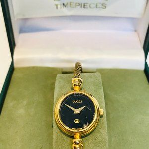 Vintage Gucci Twisted Cable Bangle Watch 2700l